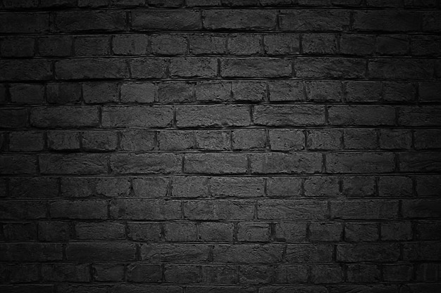 黒い壁、レンガの質感