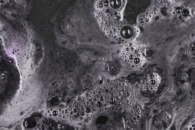 Black water with bubbles