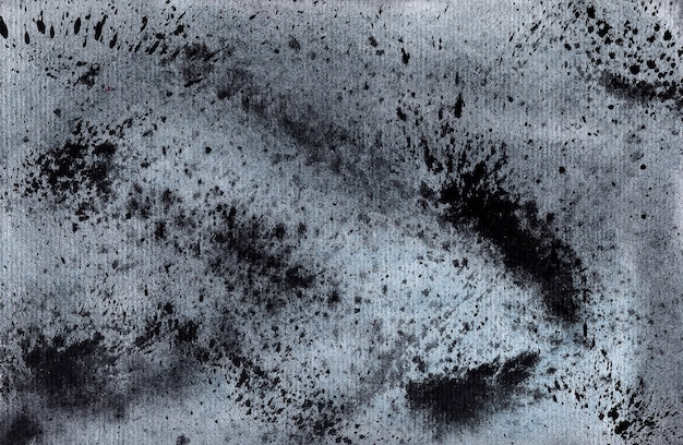 Black watercolor background - splashes and blots