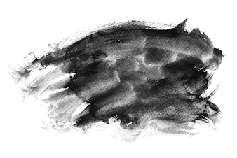 Black watercolor brush stokes, hand drawing