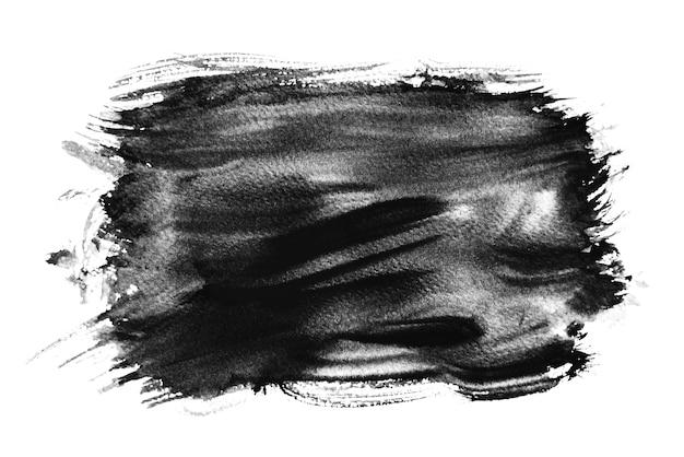 黒水彩スプラッシュ、手描き