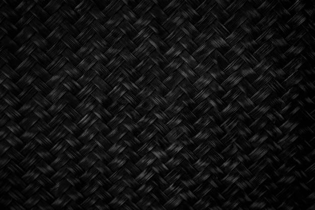 Черный плетеный бамбуковый фон черный фон, подходящий для дизайна или поместите его в качестве фона в качестве фона