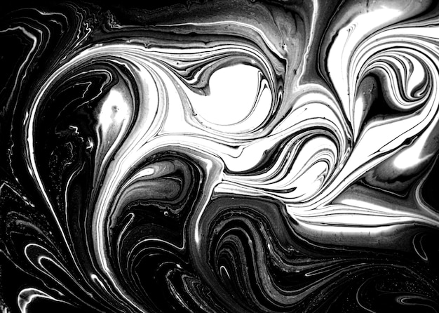 Black and white abstract agate ripple imitation