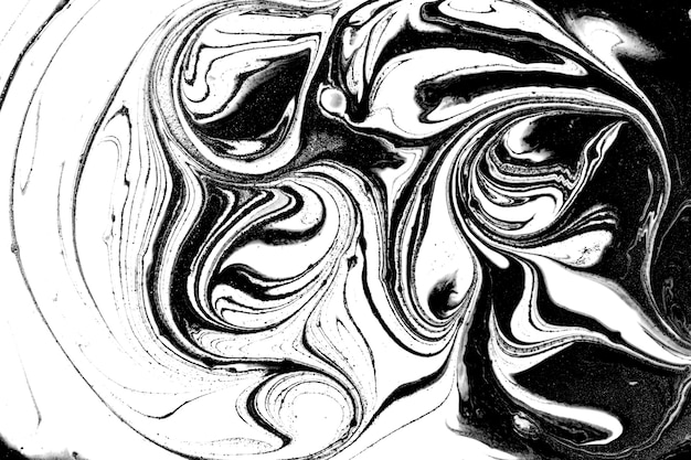 Black and white abstract marble liqued background