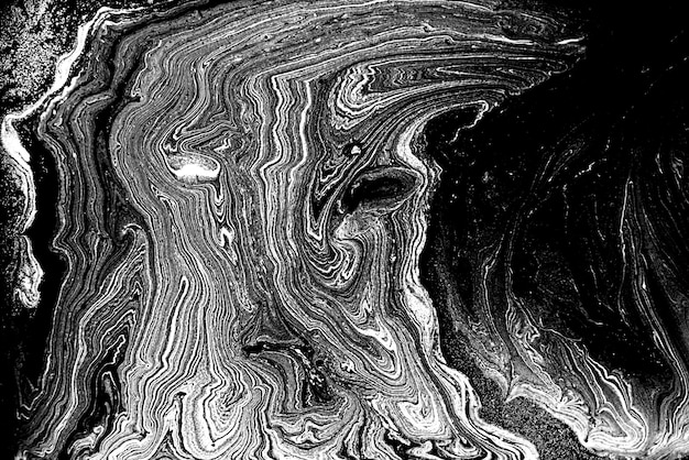 Black and white abstract marble liquid background