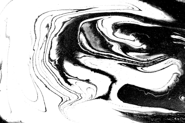 Black and white abstract marble liquid background.
