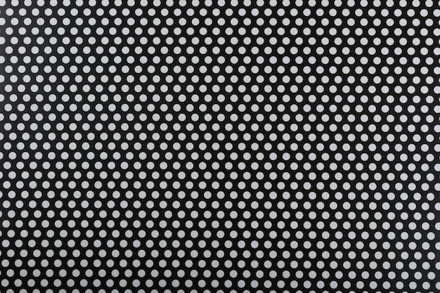 Black and white decorative pattern texture with repeating balls..