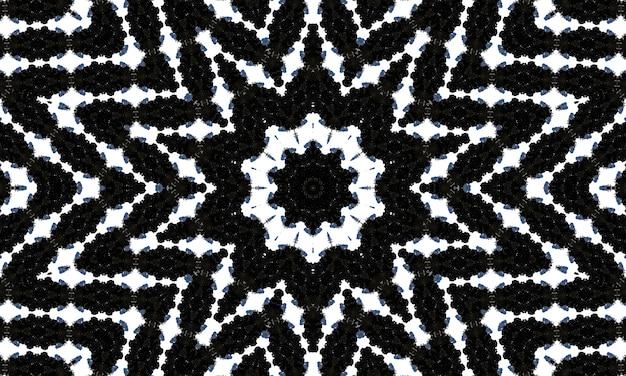 黒と白の幾何学的な背景。東アジアの人々の民族的パターン。渦巻きのクリエイティブな落書きスタイル。壁紙、ステンドグラス、プレゼンテーション、テキスタイル、カラーリングのテンプレート。