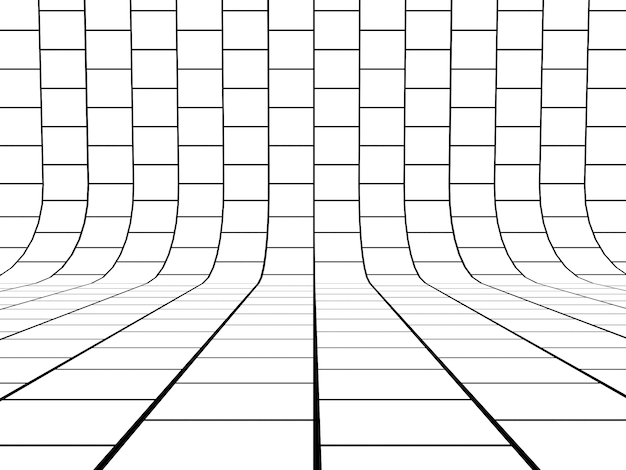 Black and white grid lines background