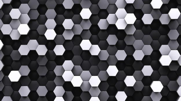 Black and white hexagonal cells