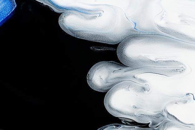 Sfondo di marmo liquido bianco e nero fai da te astratto che scorre texture sperimentale arte