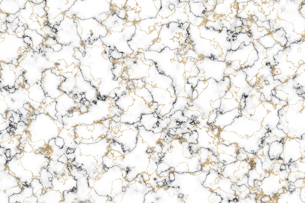 Black and white marble and gold mineral luxury interior background