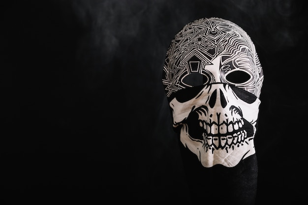 Black and white mask in rag