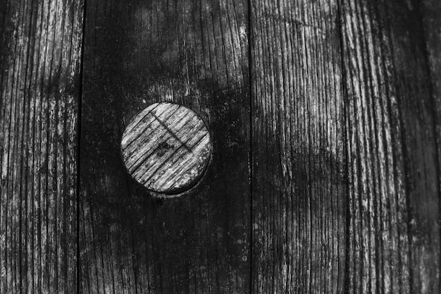 Black and white old aged wooden barrel texture