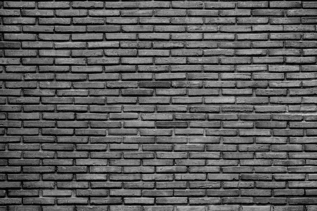 Black and white old brick wall