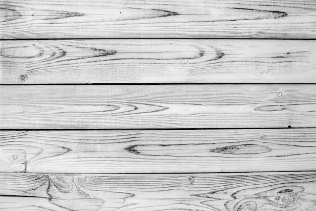 Black and white old wood texture backgrounds. horizontal stripes, boards. roughness and cracks.
