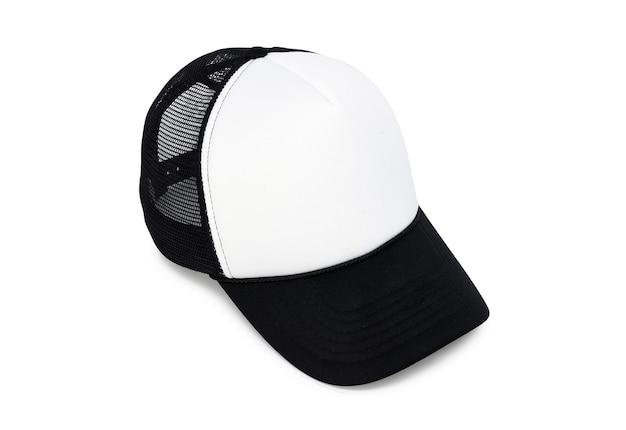 Black and white sports cap