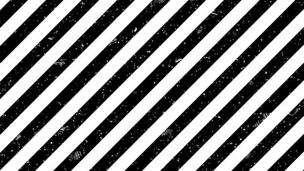 Black and white strip line warning sign pattern