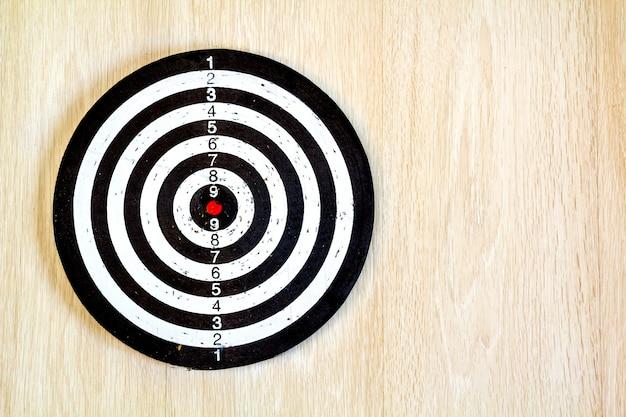 Black and white target dart
