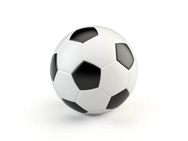 Black and white vintage style soccer ball isolated