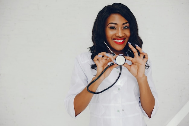 Black woman with stethoscope