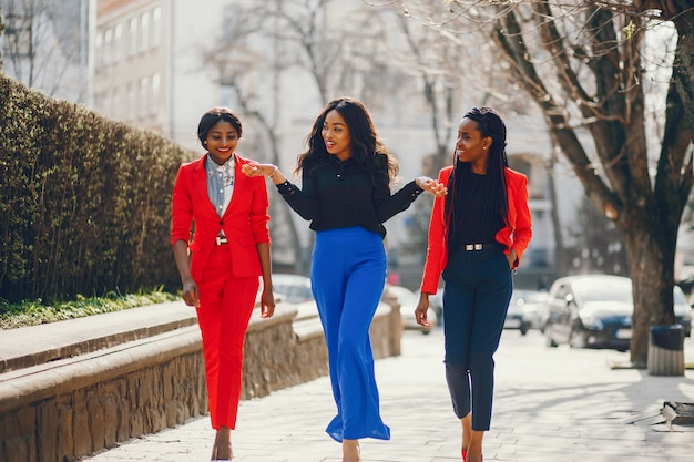 Black women in a park