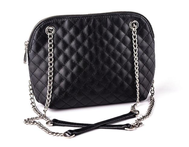 チェーン付き黒人女性のハンドバッグ