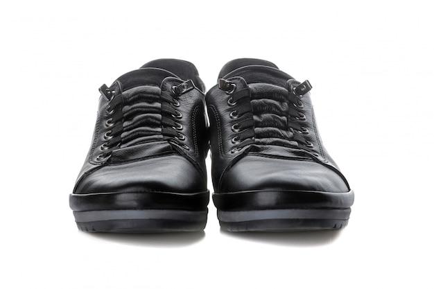 孤立した白地に黒の女性の靴