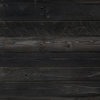 Black wood surface background texture. clean square wooden panel