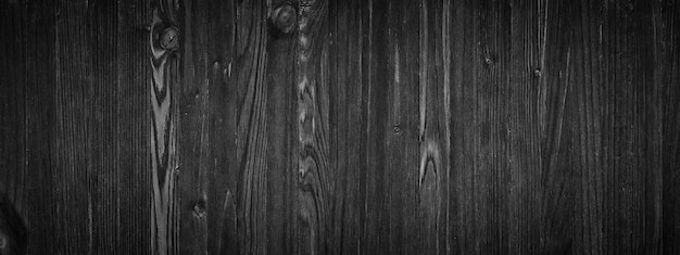 Black wood texture, empty wooden table surface or wall as background