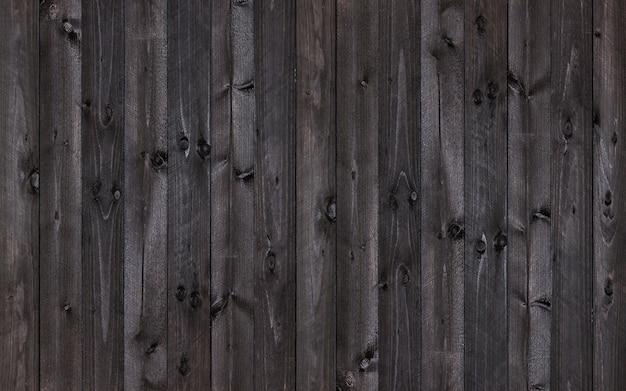 黒い木製の壁の背景