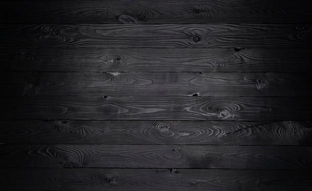 Черный деревянный фон, текстура старых деревянных планок