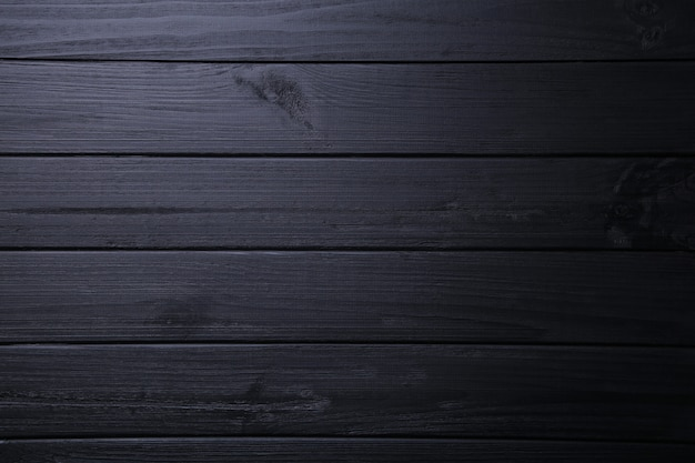 Black wooden background or wood texture, wooden board