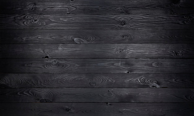 Black wooden, old wooden planks texture