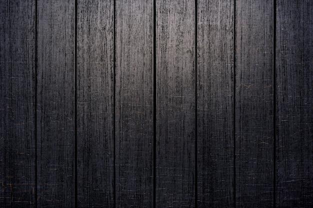 黒い木の板の織り目加工の背景