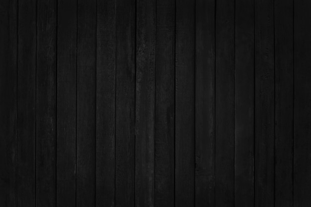 Black wooden plank wall, texture of bark wood with old natural pattern.