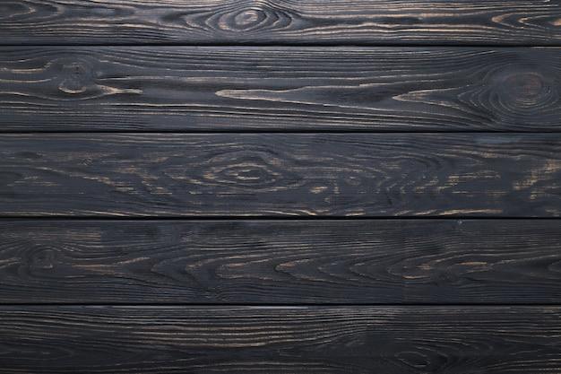 黒い木製テーブル