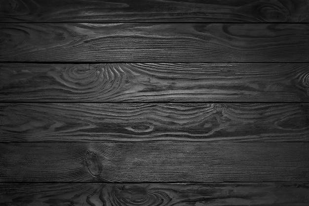 黒い木製テクスチャ背景