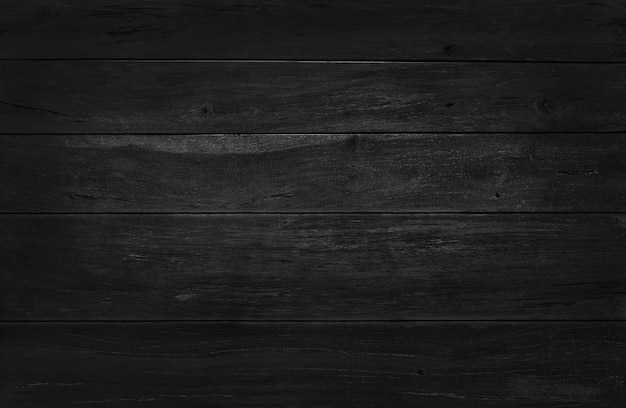 Black wooden wall background, texture of dark bark wood