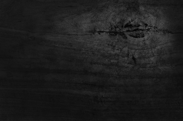 Black wooden wall wall, texture of dark bark wood with old natural pattern for design art work, top view of grain timber.