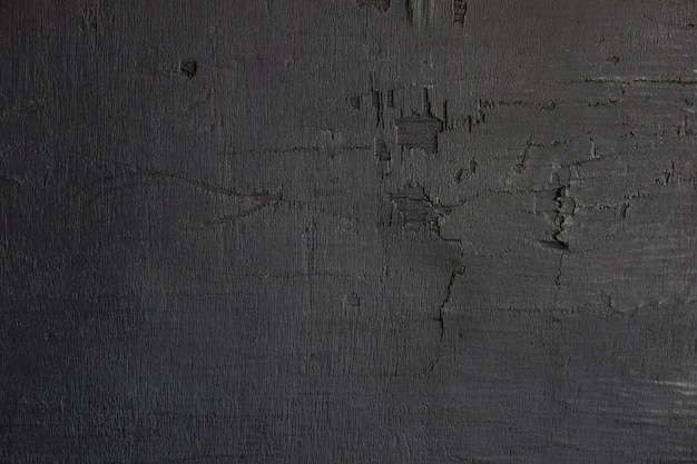 Black wooden wall