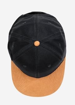 Accessorio copricapo berretto nero e giallo