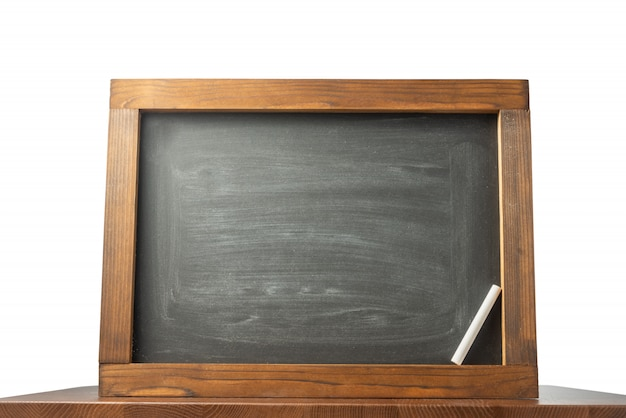 黒板とチョーク。学校に戻る