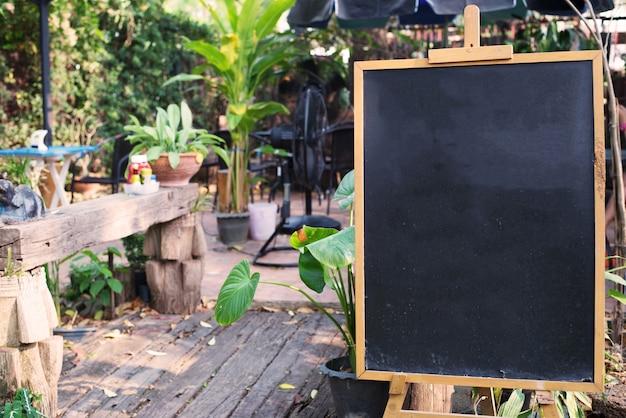 Blackboard at coffee shop