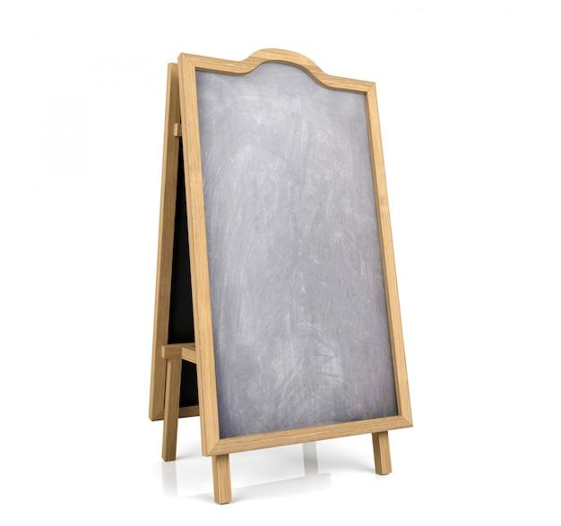 Blackboard menu isolated on white background