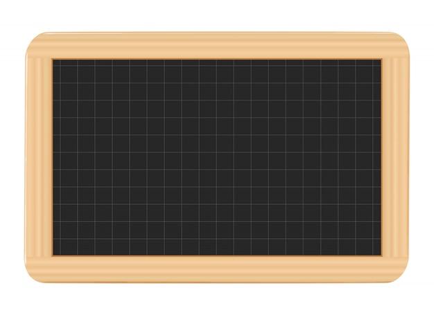 Blackboard on white