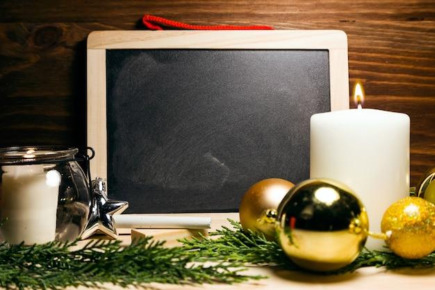 Доска с рождественских украшений