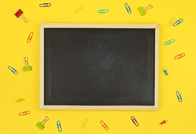 Blackboard with clips