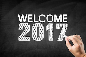 Blackboard with the message  welcome 2017