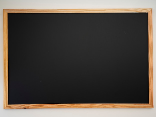 Blackboard with wooden frame.